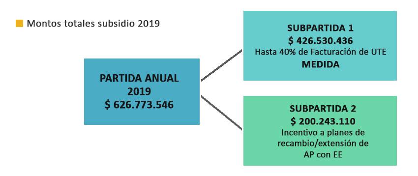 Montos totales subsidio 2019