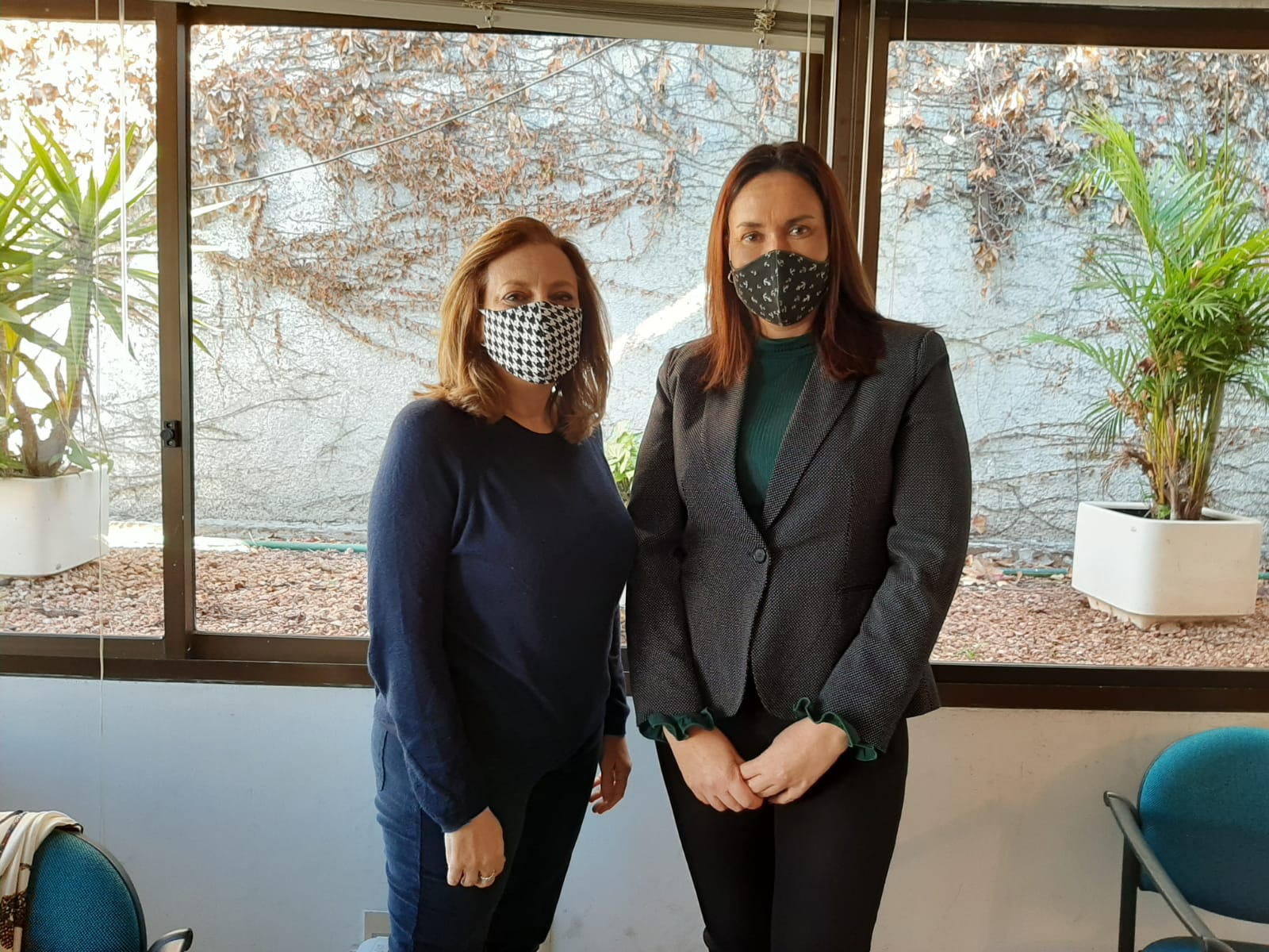 Mónica Botero de INMUJERES y María de Lima de OPP