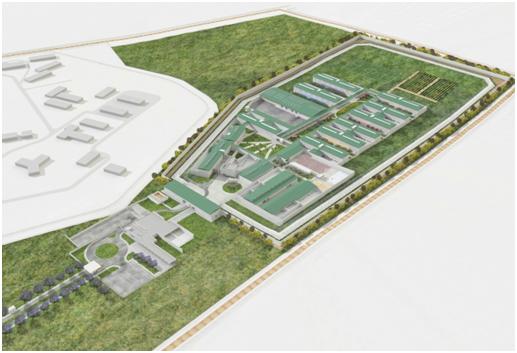 Recinto Penitenciario Punta de Rieles vista aérea